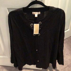 NWT black knit tee long sleeve Michael kors xl
